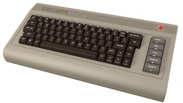 PC Commodore 64x Supreme, uma versão moderna do computador Commodore 64 com novo teclado e hardware.