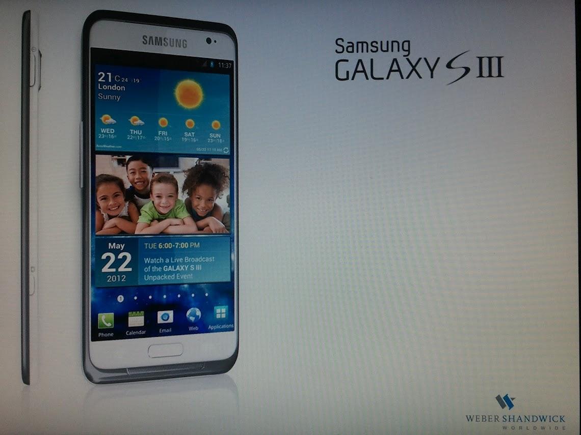 Possível imagem do Samsung Galaxy S III, vazada pelo Reddit.