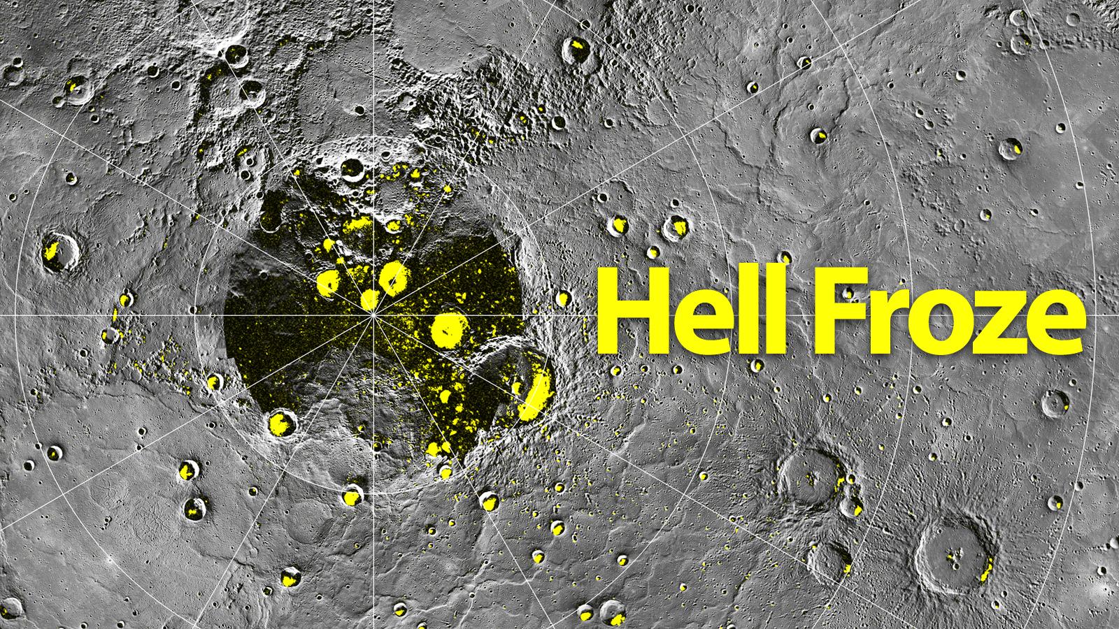 Quando o inferno, Mercúrio, congela.
