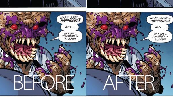 Quadrinhos antes e depois da Retina Display.