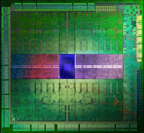Um monte de núcleos CUDA na GTX 680.