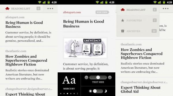 Readability para Android.