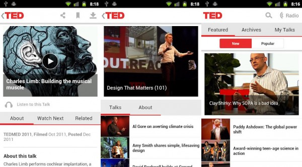 App oficial do TED para Android.