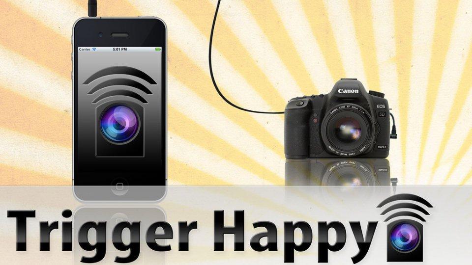 O TriggerHappy é um cabo de 90cm que conecta sua câmera DSLR ao smartphone com Android ou iOS.