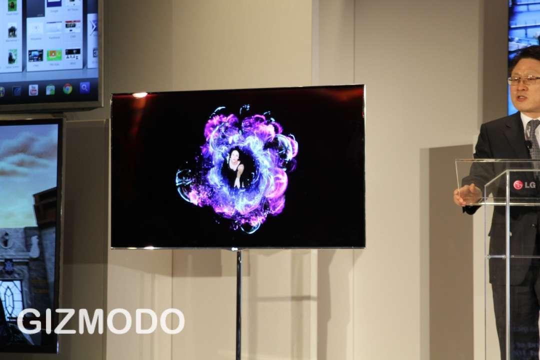 A bela TV OLED da LG.