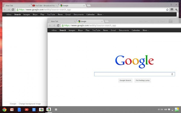 Janelas no Chrome OS.