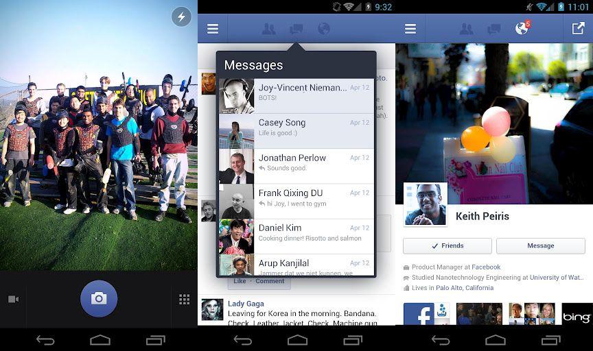 Facebook para Android.