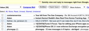Gmail no iGoogle.