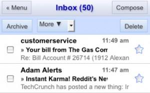 Gmail móvel.
