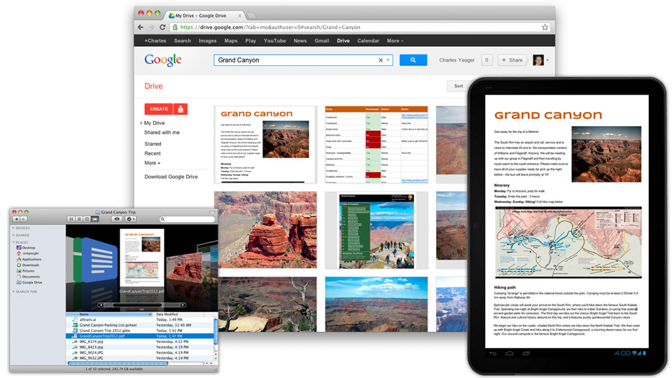 Google Drive everywhere.