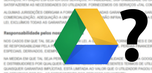 Termos do Google Drive.