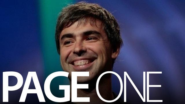 Larry Page com sorissão amarelo.