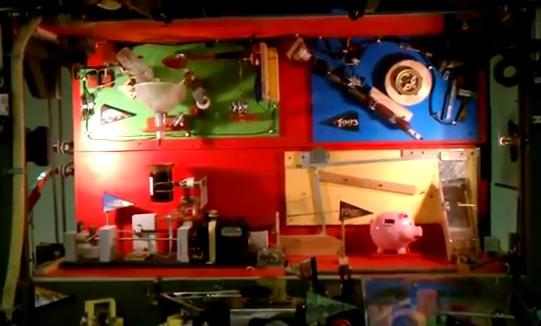 Maior máquina de Rube Goldberg do mundo.