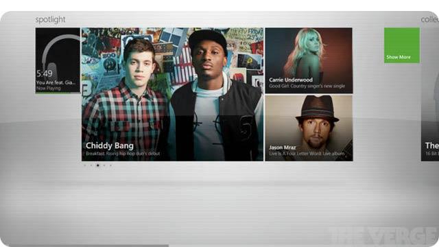 Música no Xbox.
