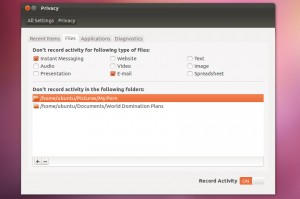 Privacidade no Ubuntu.