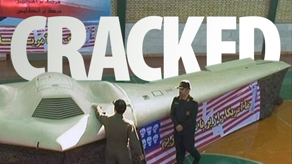 Avião 'crackeado' pelos iranianos.