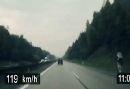 Alta velocidade na bike.