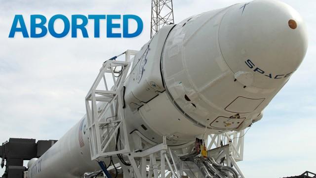 Lançamento da SpaceX abortado.