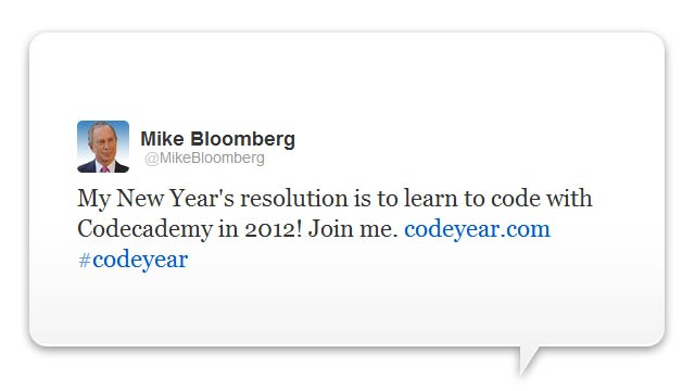 Bloomberg quer programar.