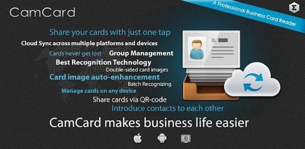 CamCard Reader Lite.