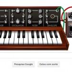 Doodle em homenagem a Moog, no Google Japão.