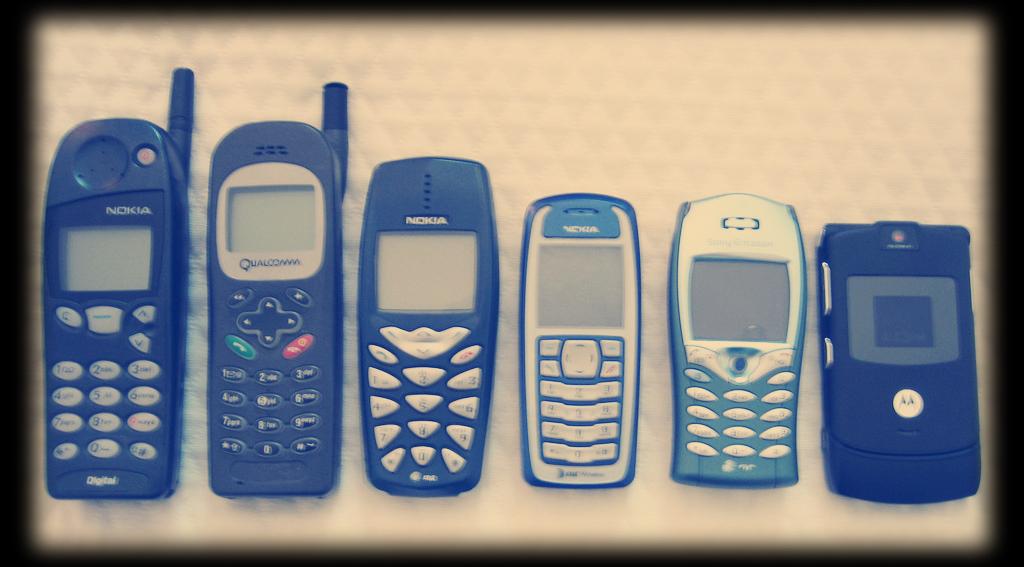 Velhos dumbphones.