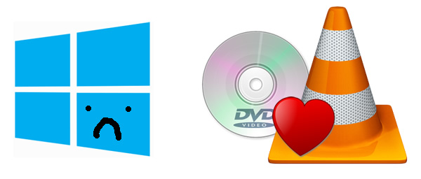 Windows 8, VLC e DVD.