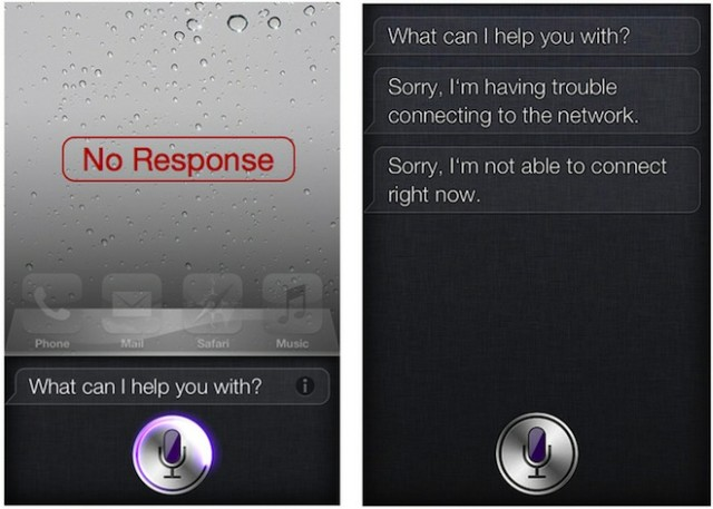 Siri sem resposta.