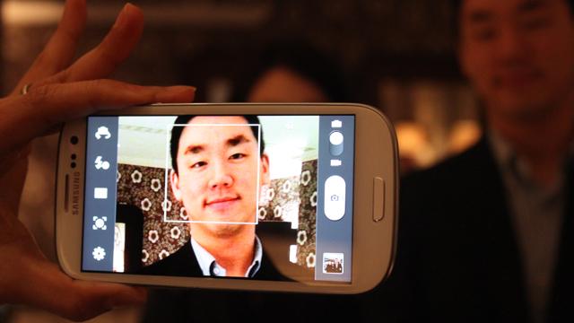 Câmera do Galaxy S III.