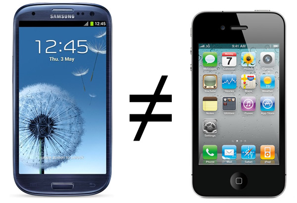 Galaxy S III vs. iPhone