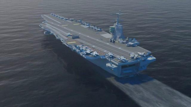 O novo super porta-aviões nucelar dos EUA.