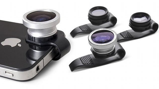 Lente clip-on da Gizmon para iPhone