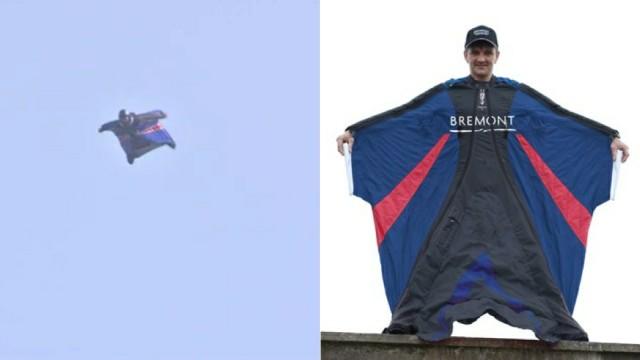 Salto sem paraquedas.