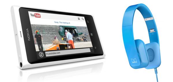 Lumia 800 branco e Purity HD Monster.