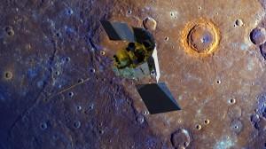 MESSENGER em Mercúrio.