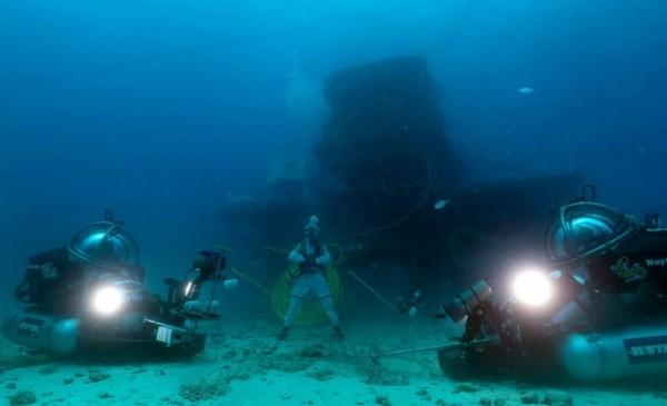 Treinamento submarino.