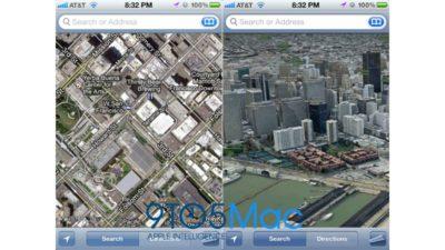 Modo 3D no novo Mapas do iOS 6.