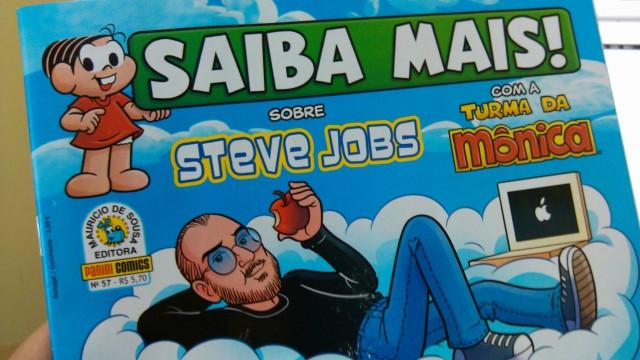 Saiba Mais sobre Steve Jobs, com a Turma da Mônica.