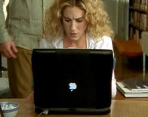 Notebook da Apple em Sex and the City.
