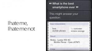 Siri gosta do Lumia 900.