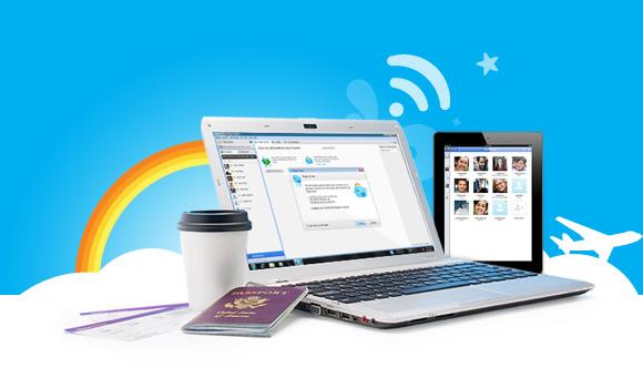 Skype WiFi grátis no Dia das Mães.