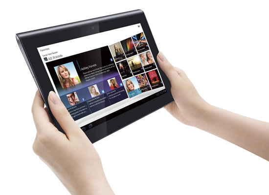 Tablet S, da Sony: no Brasil com ICS.