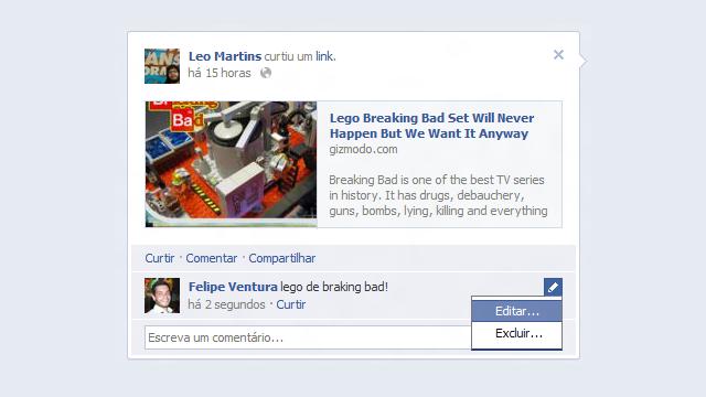 Facebook está prestes a deixar você editar seus comentários malfeitos
