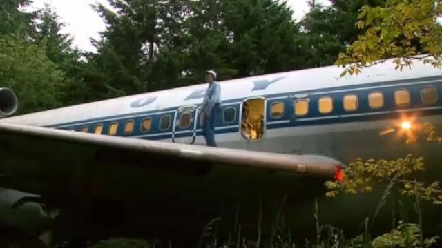 Casa de avião.