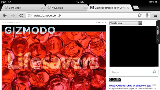 Chrome para iOS.