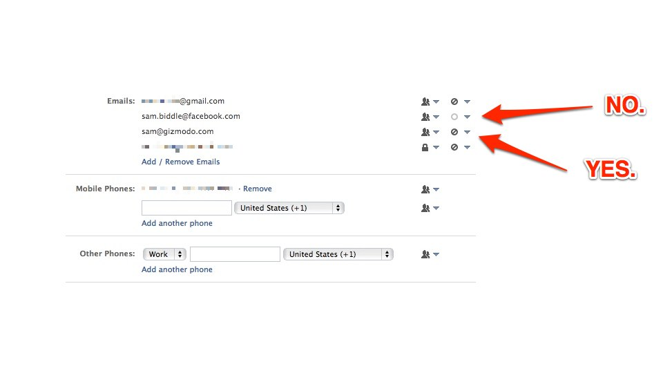 Altere as configurações de email do Facebook.