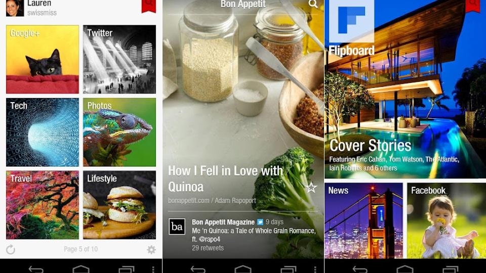 Flipboard para Android.