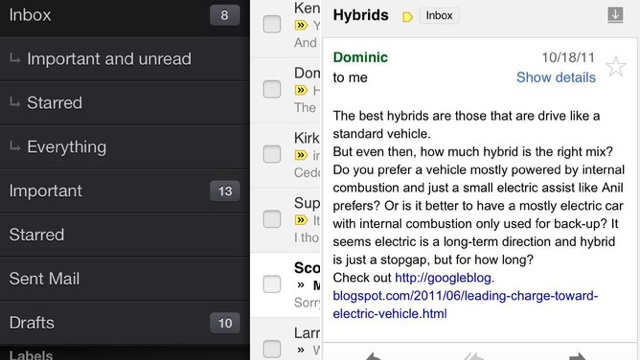 Novo Gmail para iOS.