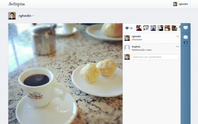 Nova versão do Instagram para web.