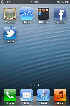 Destaque para novos apps.
